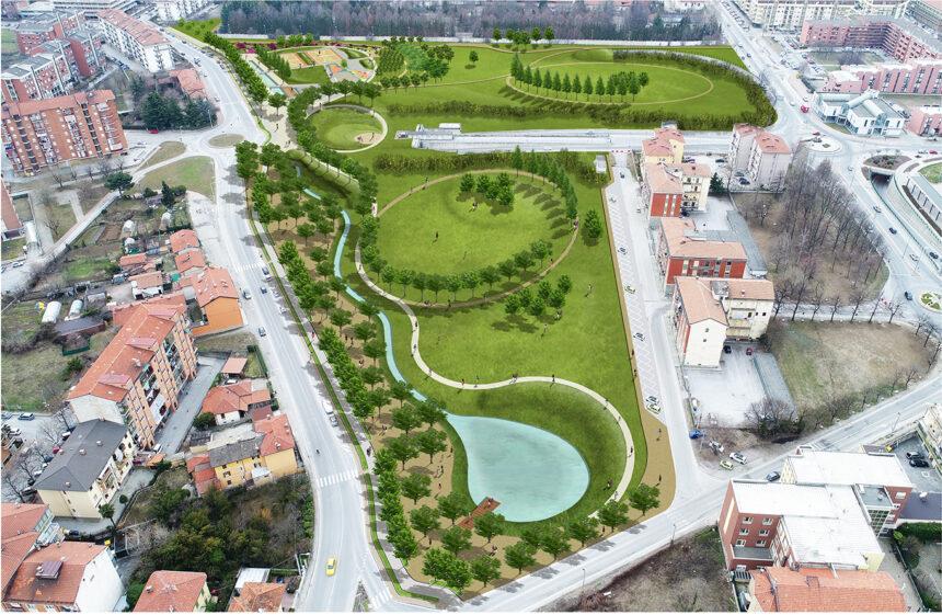 Parco urbano e orti urbani in Piazza d'Armi – Cuneo
