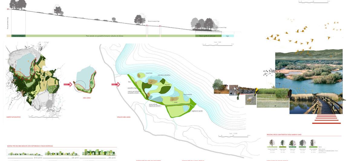 Concorso di idee per il riuso e la valorizzazione dell'area ex mineraria di Caviglia (AR). Progetto vincitore.