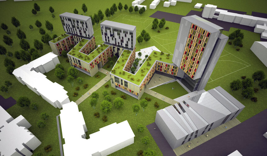 Glyndwr University Residences Competition – Wrexham (Regno Unito)