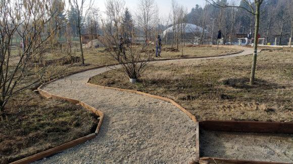 """Proseguono i lavori per la realizzazione del nuovo                 Parco Sensoriale """"NatSens"""" a Cuneo"""