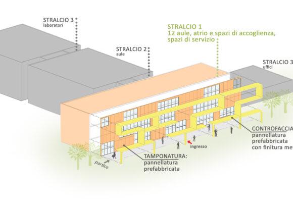 Nuova sede dell'Istituto Einaudi-Scarpa nel comune di Montebelluna (TV)