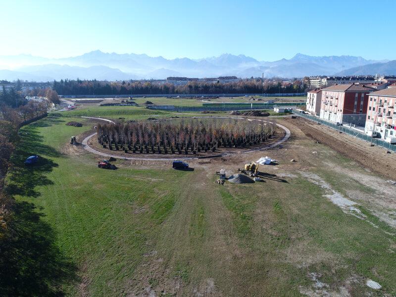 Un bosco temporaneo per il nuovo Parco Parri di Cuneo